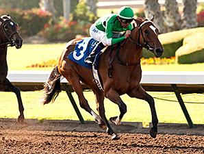 La Grange wins the TVG Cinderella Stakes.