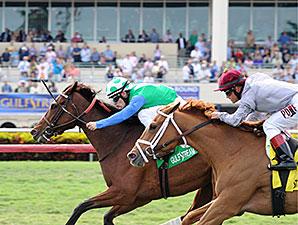 Lady Lara wins the 2015 Honey Fox Stakes.