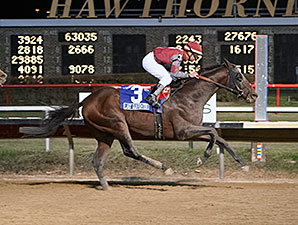 Last Gunfighter wins the 2013 Hawthorne Gold Cup.