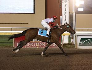 Lingerlonger wins the 2013 Oklahoma Classics Juvenile Stakes.