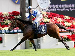 Lord Kanaloa wins the Hong Kong Sprint.