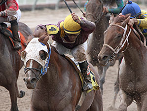 Louisiana Flyboy wins the 2014 A. L. (Red) Erwin Stakes.