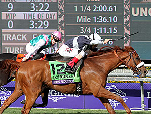 Main Sequence wins the Breeders' Cup Turf.