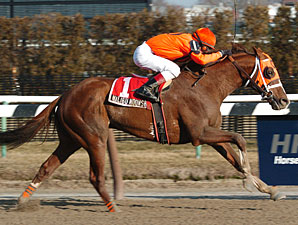 Malibu Moonshine draws away to an upset victory in the Stymie.