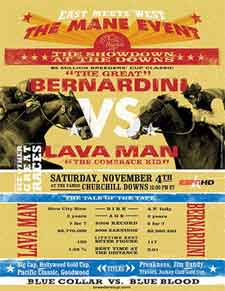 Poster Promotes Lava Man, Bernardini Showdown