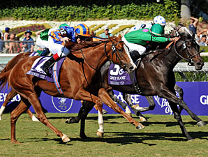 Maram Wins Juv Fillies Turf Nail-Biter