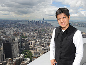 Unflappable Gutierrez Visits Big Apple