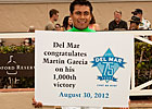 Martin Garcia Logs 1,000th Victory