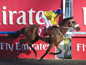 Mickdaam wins the 2012 Al Bastakiya.
