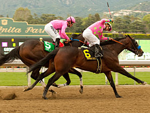 Midnight Interlude wins the 2011 Santa Anita Derby.