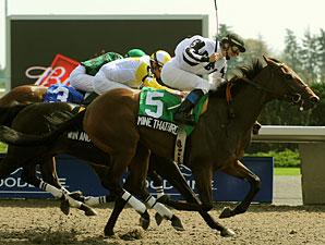 Juveniles Star in Grey, Mazarine Stakes