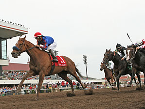 Mister Marti Gras Wins First Mystic Lake Mile