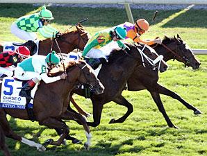 Moonwalk wins the 2012 Jessamine Stakes.