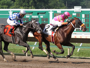 My Adonis wins the Long Branch Stakes.
