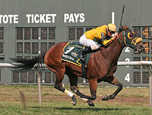 Noble Maz wins the 2010 Mrs. Penny Stakes.