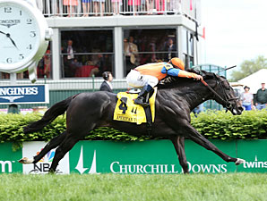 Noble Tune wins the 2013 American Turf Stakes.