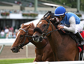 Oak Bluffs wins the 2015 My Frenchman Stakes.