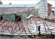 Storm Rips Roof Off Oaklawn Barn; No Horses or Humans Hurt