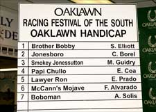 Homecoming for Lawyer Ron in Oaklawn Handicap
