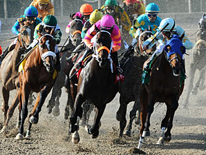 Pants On Fire wins the 2011 Louisiana Derby.