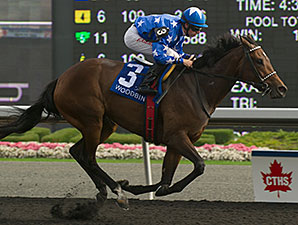 Pirate's Trove wins the Etobicoke Stakes.