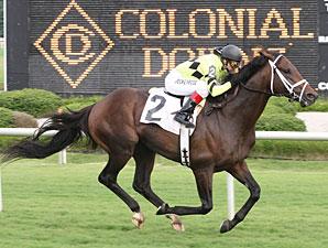 Pleasant Strike wins the 2009 Daniel Van Clief Stakes.
