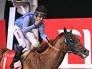 Prince Bishop wins the 2015 Dubai World Cup.