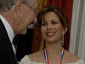 Princess Haya Receives Clay Medallion