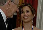 Princess Haya Receives Clay Medallion