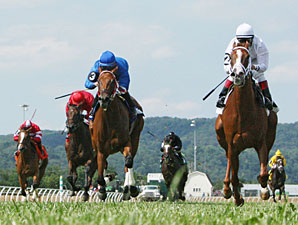 Prissy wins the 2013 West Virginia Senate President's Cup Stakes.