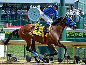 Private Zone wins the 2015 Churchill Downs Stakes.