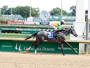 Promise Me Silver wins the 2014 Debutante Stakes.