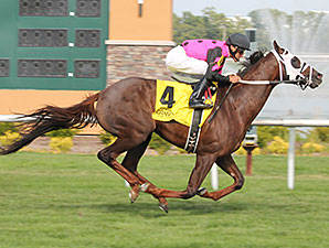 Proud Azteca wins the 2014 A. J. Foyt Stakes.