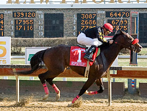 Recapturetheglory cruises to an upset win in the Illinois Derby.