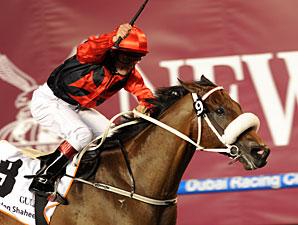 Rocket Man wins the 2011 Dubai Golden Shaheen.