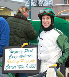 Woolf Nominee Prescott Wins 3,000th Race