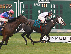 Romacaca wins the 2011 Miss Liberty Stakes.