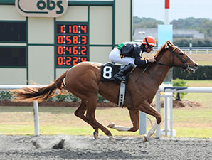 Ruslana wins the 2014 OBS Sprint Stakes Filly Division.