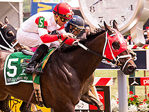 Sandbar wins the 2015 Maryland Sprint Handicap.