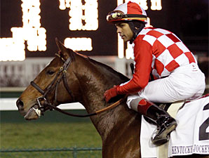 Santiva wins the 2010 Kentucky Jockey Club.