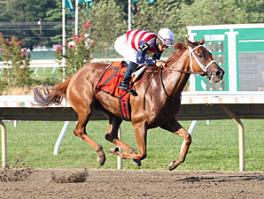 Seaneen Girl Ships in to Win Monmouth Oaks
