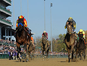 Secret Circle wins the 2011 Breeders' Cup Juvenile Sprint.