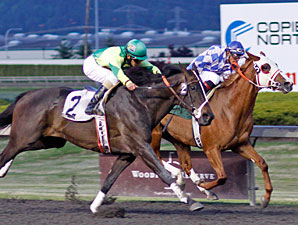 Seventyprcentcocoa wins the May 18, 2012 feature race at Emerald Downs.