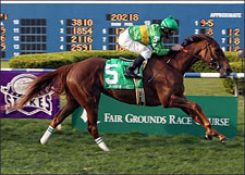 Fair Grounds Lover Shadow Cast Wins Bayou