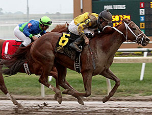 Shanon Nicole wins the 2014 Indiana Grand Stakes.