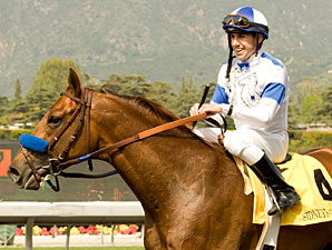 Sidney's Candy wins the 2010 Santa Anita Derby.