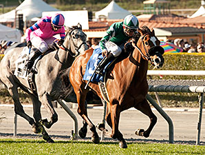Singing Kitty wins the China Doll Stakes.