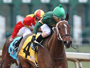 Sister Ginger wins the 2013 Martha Washington Stakes.
