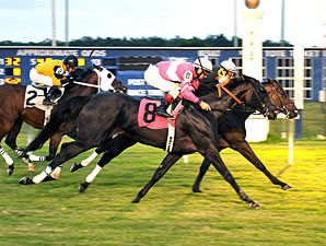 Skipping Town wins the 2011 Matron Stakes at Evangeline Downs.