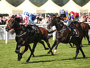 Slade Power winning the Diamond Jubilee.